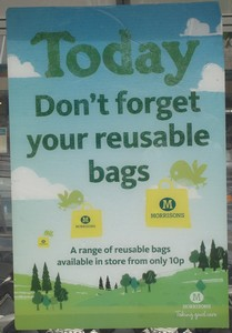 Today, Morrisons want you to use your own reusable shopping bag