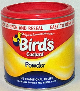 custard powder in composite material packaging