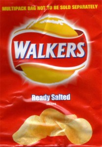 Walkers crisps packaging