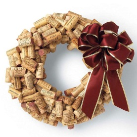 Recycled cork christmas wreath