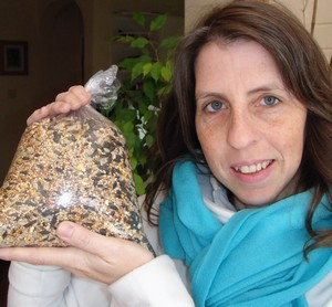 Mrs Green with zero waste high energy bird food