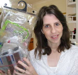 Mrs Green holds family rubbish for 2010